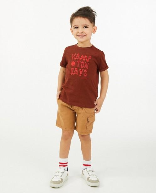 T-shirt brun Hampton Bays - en coton bio - Hampton Bays