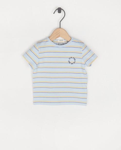 Lichtblauw T-shirt met strepen Bumba - allover - Bumba