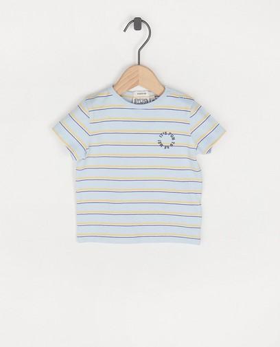 Lichtblauw T-shirt met strepen Bumba