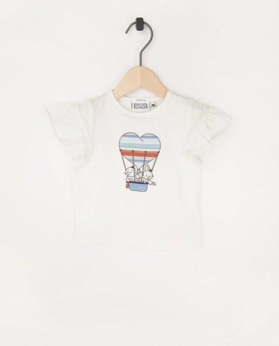 Offwhite T-shirt met print Bumba