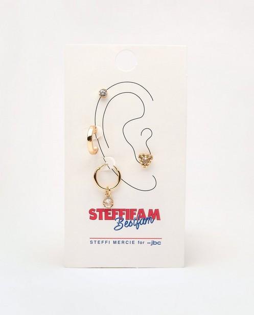Juwelen - Goudkleurige oorbellen Steffi Mercie