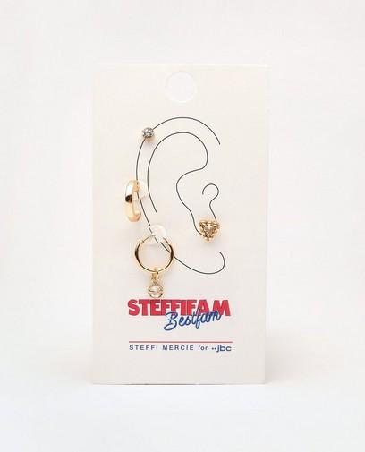 Goudkleurige oorbellen Steffi Mercie
