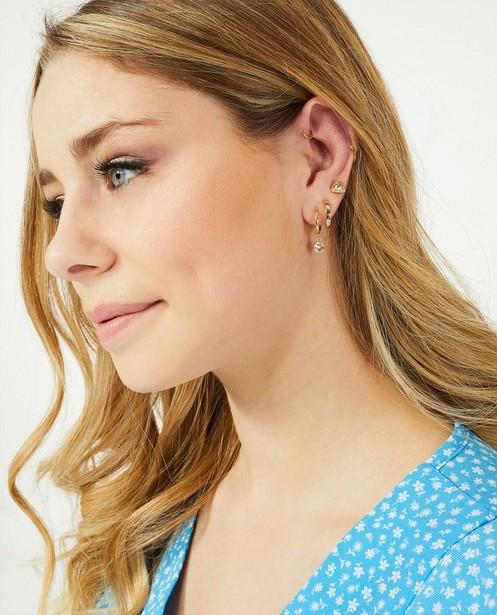 Boucles d'oreilles dorées Steffi Mercie - lot - JBC