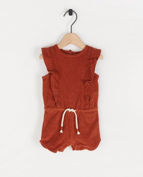 Sponzen jumpsuitje in roest Bumba - sponzen - Bumba