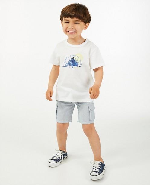 Biokatoenen T-shirt met print Wickie - met loose fit - Wickie