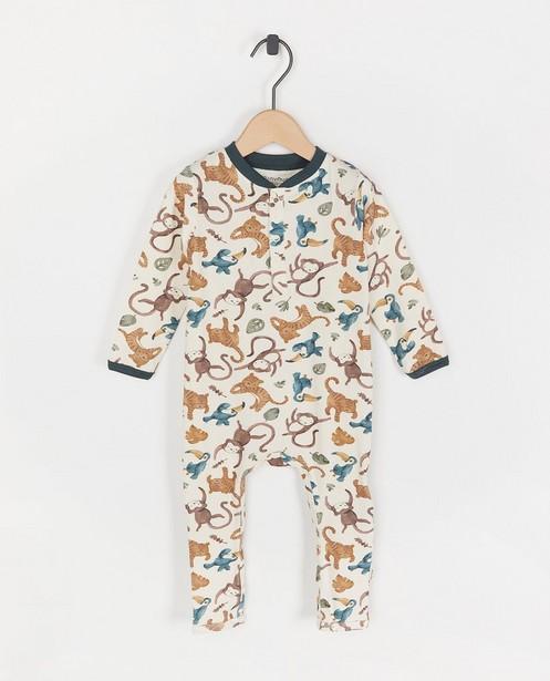 Pyjama écru à imprimé Minymo - imprimé intégral - Minymo