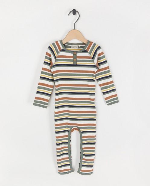 Pyjama à rayures Minymo - relief côtelé - Minymo
