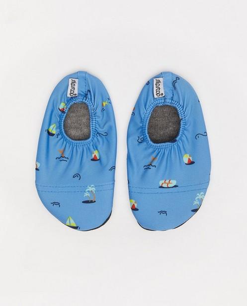 Chaussures bleues antidérapantes Slipstop - à imprimé - Cuddles and Smiles