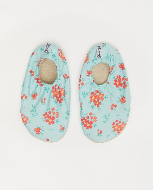 Mintgroene antislip schoentjes Slipstop - met print - Cuddles and Smiles