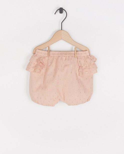 Short avec fil métallisé Enfant - rose - Enfant