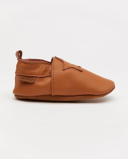 Bruine schoentjes van leder EnFant - met ster - Enfant
