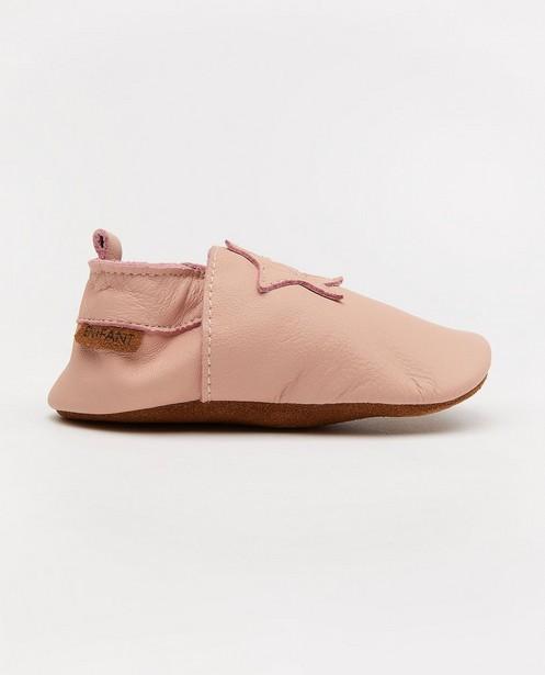 Chaussures roses en cuir Enfant - avec une étoile - Enfant