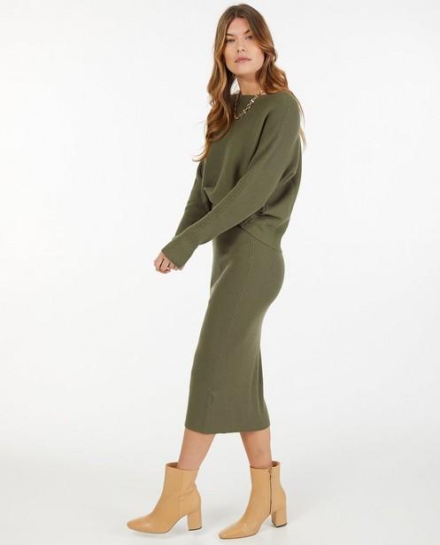 Gebreide rok in groen Sora - aansluitend - Sora