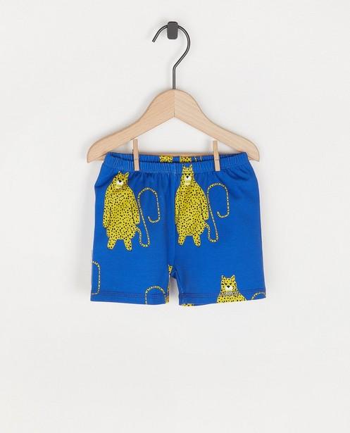 Short bleu à imprimé Onnolulu - petits léopards - Onnolulu