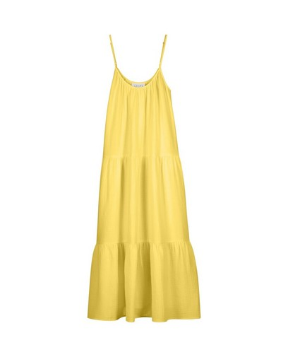 Robe jaune en matière tétra Youh!