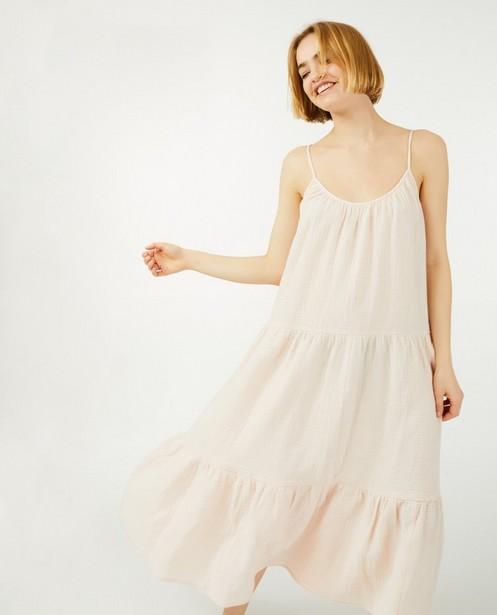 Rose robe en matière tétra Youh! - avec des bretelles ajustables - YOUH!