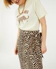 Wikkelrok met luipaardprint Sora - allover - Sora