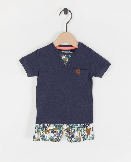 Set van T-shirt en short Dirkje - met print - Dirkje