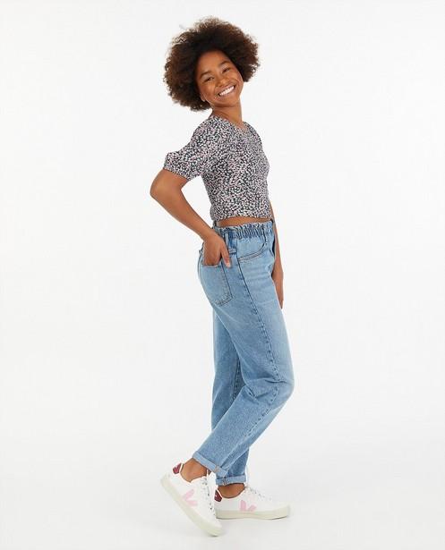 Jeans mom bleu clair Renee - à élastique - Groggy