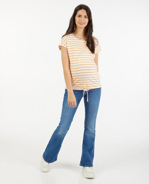 Blauwe bootcut jeans JoliRonde - zwangerschap - Joli Ronde