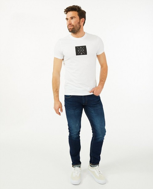 Katoenen T-shirt QS designed by - met stretch - S. Oliver