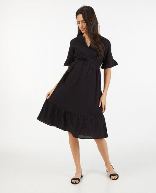 Zwarte jurk van katoen JoliRonde - zwangerschap - Joli Ronde