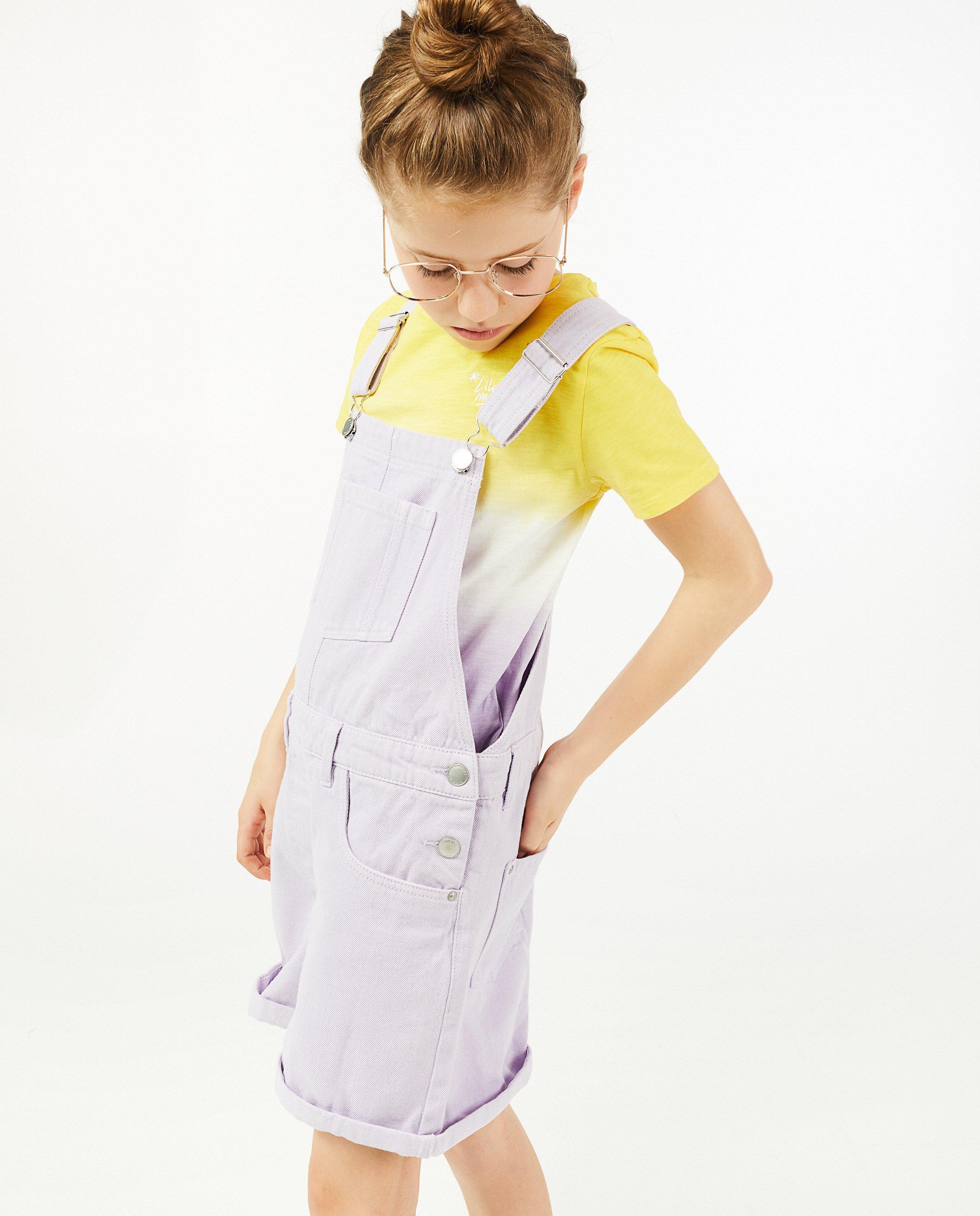 T-shirt met gradiëntprint #LikeMe - stretch - Like Me