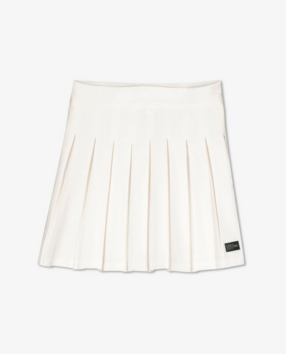 Jupe blanche à plis