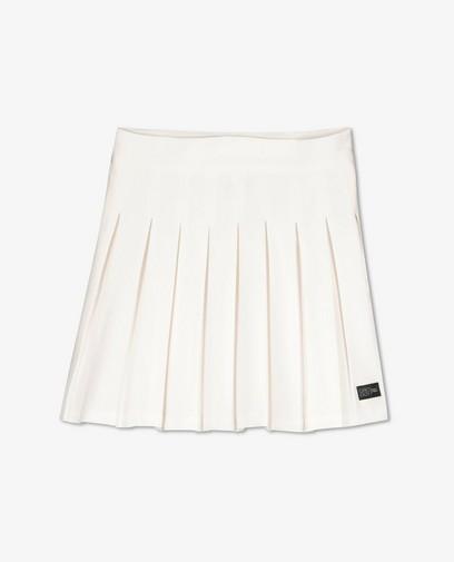 Witte rok met plooien