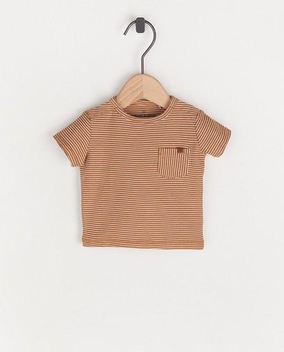 Bruin T-shirt met strepen