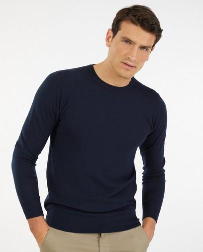 Dunne blauwe trui