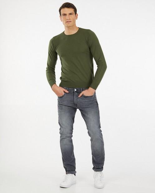 Dunne groene trui - Zacht gebreid materiaal - Indeed