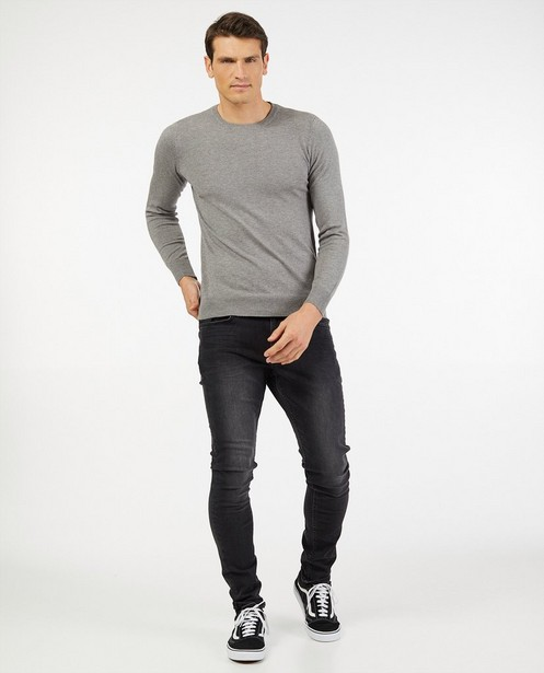 Fin pull gris - doux tricot - Indeed