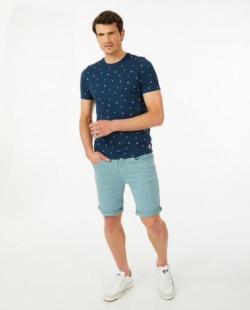 Biokatoenen T-shirt met print - symbooltjes - Quarterback