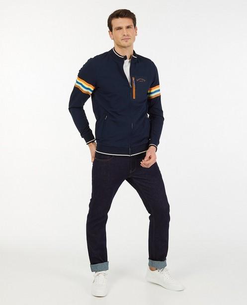 Blauw vest met strepen Baptiste - stretch - Baptiste