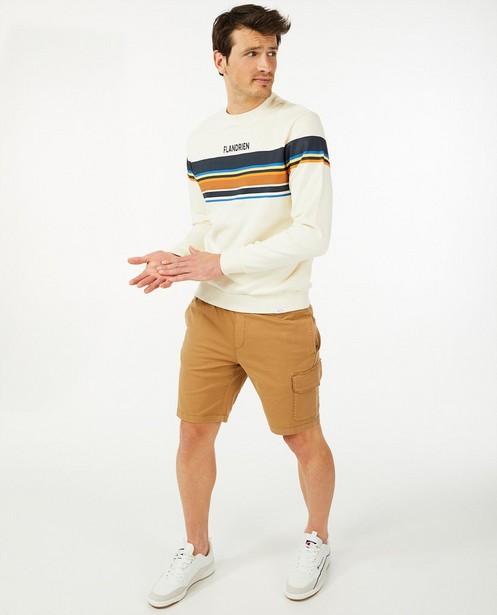 Offwhite sweater met strepen Baptiste - van biokatoen - Baptiste