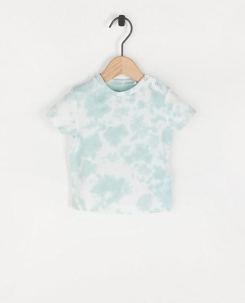 T-shirt blanc à imprimé tie dye - imprimé intégral - Cuddles and Smiles