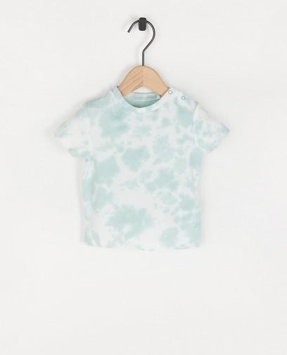 T-shirt blanc à imprimé tie dye