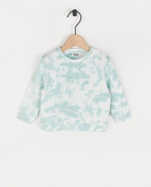 Sweat blanc avec tie dye - en coton bio - Cuddles and Smiles