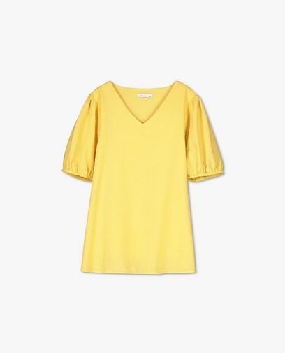 Gele katoenen blouse JoliRonde