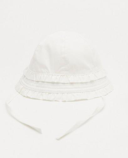 Chapeau blanc avec des ruches