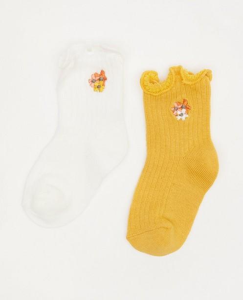 Lot de 2 paires de chaussettes pour bébés - avec des ruches - Cuddles and Smiles