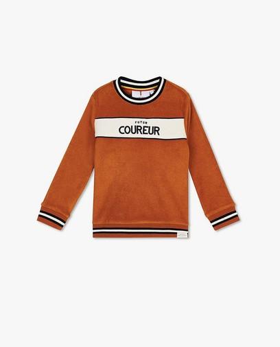 Sweater met opschrift Baptiste (FR)