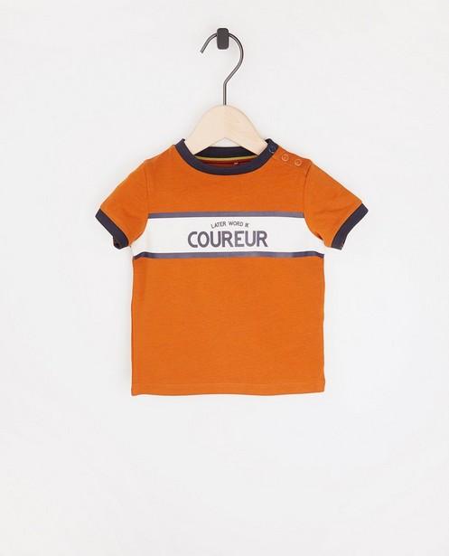 T-shirt à inscription Baptiste (NL) - en coton bio - Baptiste