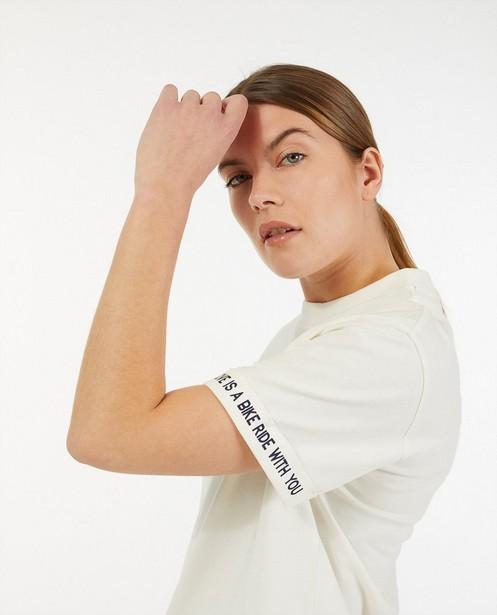 T-shirt écru à inscription Baptiste - stretch - Baptiste