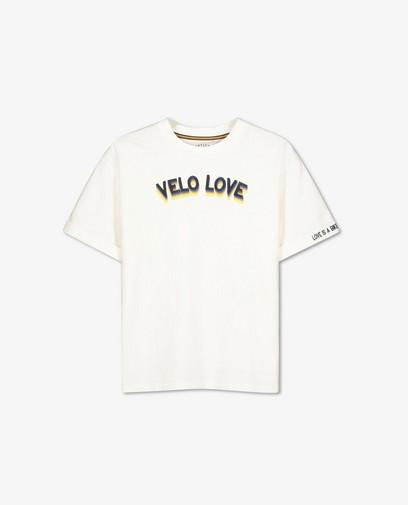 Offwhite T-shirt met opschrift Baptiste