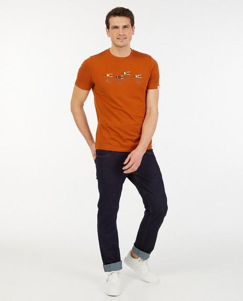 Biokatoenen T-shirt met print Baptiste - stretch - Baptiste