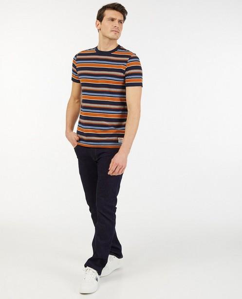 Biokatoenen T-shirt met strepen Baptiste - allover - Baptiste