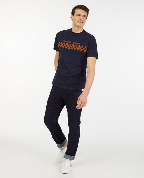 Biokatoenen T-shirt Baptiste (FR) - met print - Baptiste