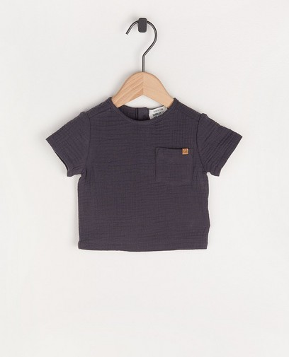 Donkergrijs T-shirt van tetrastof